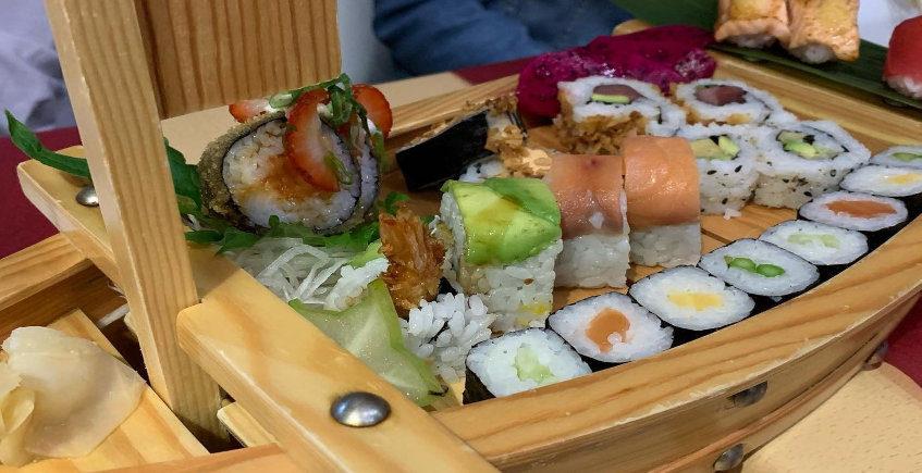 El sushi de Aburi Sushi