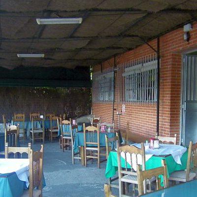 Terraza de la venta. Foto; Cosas de Comé.