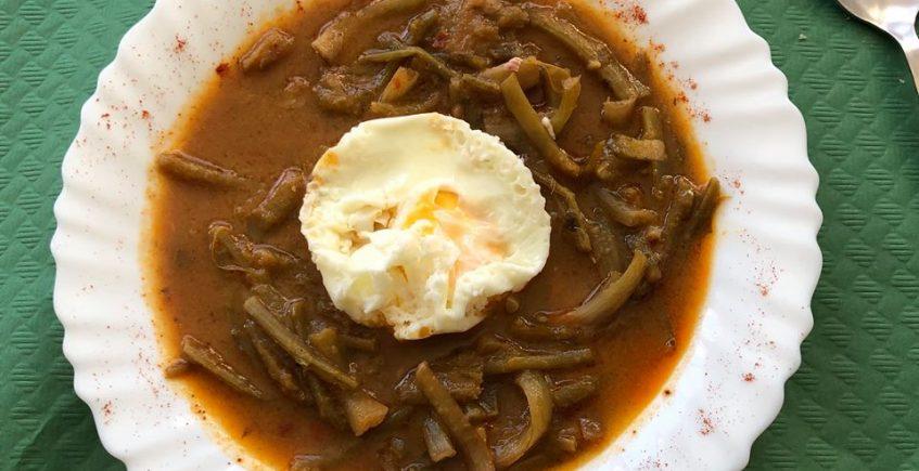 Las tagarninas con huevo del bar Peña Albarracín