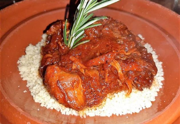 El tajín picante de pollo de Alboronía