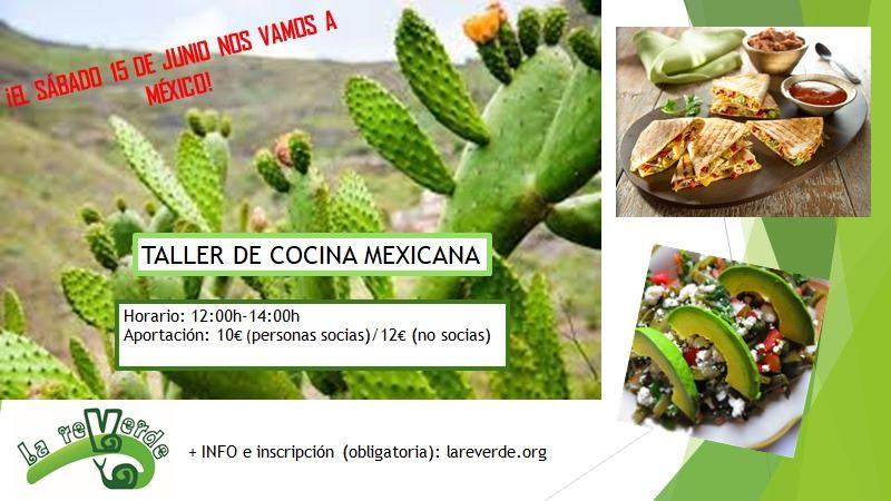 Taller de comida mexicana en La Reverde