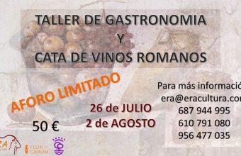 Taller de Gastronomía Romana en Era Cultura de Puerto Real los días 26 de julio y 2 de agosto