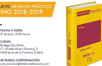 21 de junio. Jerez. Presentación del Memento Práctico Vino 2018-2019