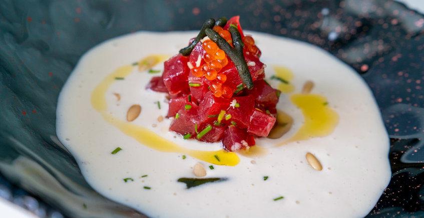 El tartar de ventresca de atún del Restaurante El Campero