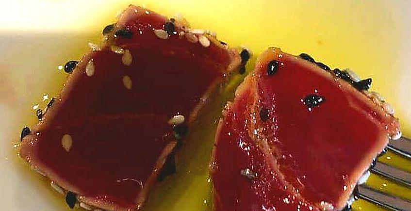 El tataki de atún del restaurante Antonio
