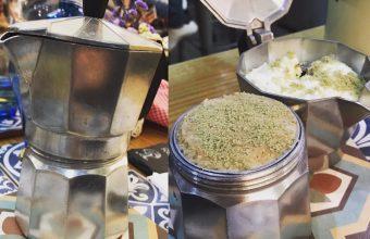 El tiramisú de té matcha de La Candela