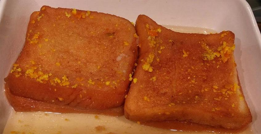 Las torrijas de naranja del obrador de Antonia Butrón