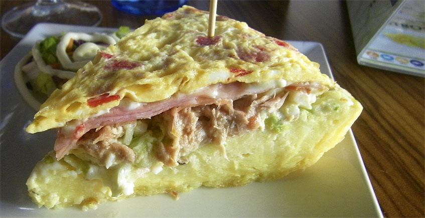 La tortilla rellena de El Rincón de Santi