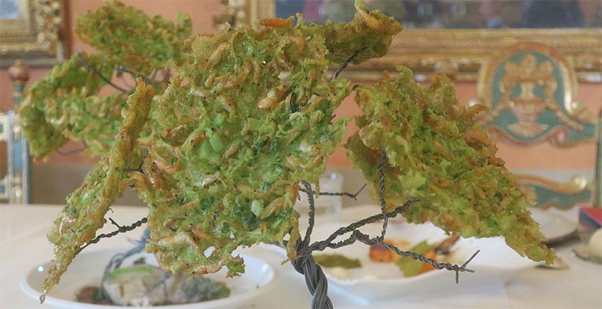 El árbol de tortillitas de camarones de la Hacienda El Rosalejo