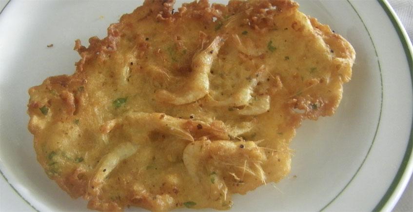 Las tortillitas de camarones de la taberna Manegodor