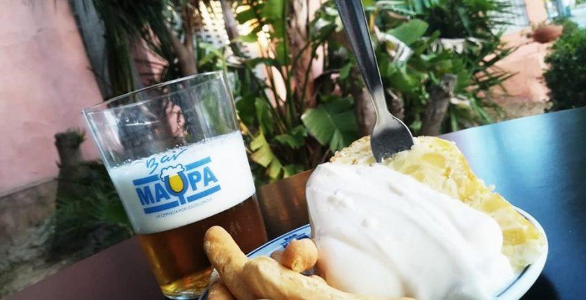 El tortillón de patatas del restaurante Maypa