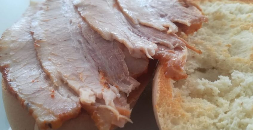 La tostada de chicharrones de la Venta Zacarías