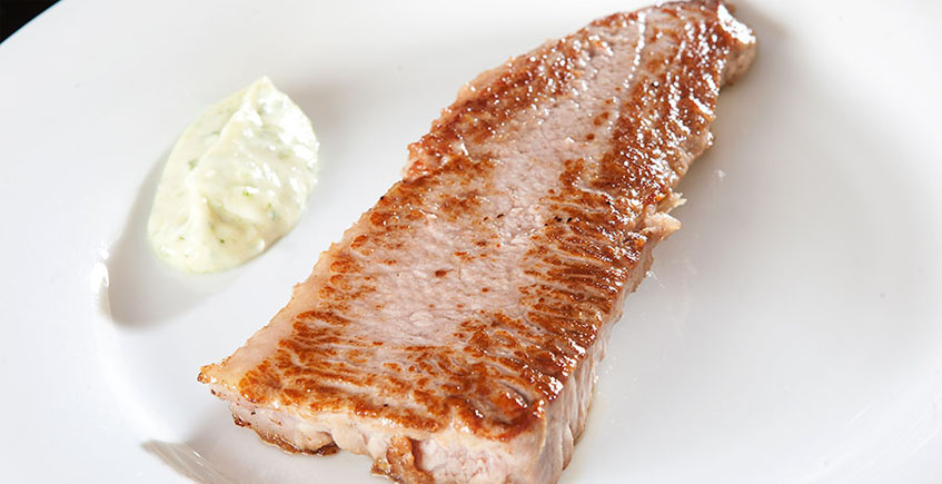 El filete de atún a la plancha del restaurante del hotel Antonio
