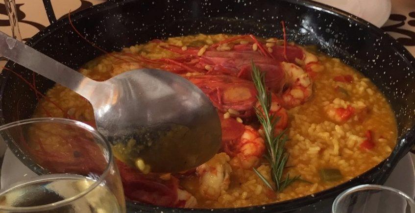 El arroz con carabineros de la Venta La Palmosa