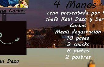 23 de junio. El Puerto. Cena A Cuatro manos de Sergio Cortés y Raul Daza en Escalera de Tapas