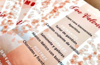 Menú del Día de los Enamorados en A Plomo de Cádiz