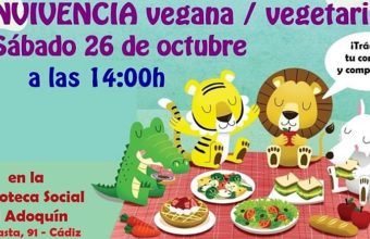 Convivencia vegana y vegetariana en El Adoquín de Cádiz