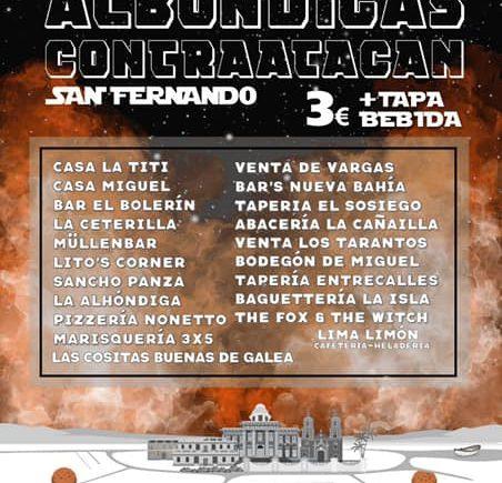 Del 10 al 19 de mayo. San Fernando. Ruta gastronómica Las albóndigas contraatacan