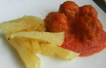 Albóndigas metías en tomate del Bar Nono
