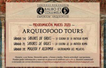 Los 'arqueofoods' del mes de marzo (suspendidos)