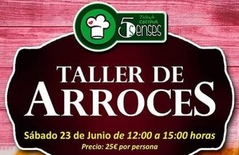 23 de junio. Jerez. Taller de arroces en 5 Senses
