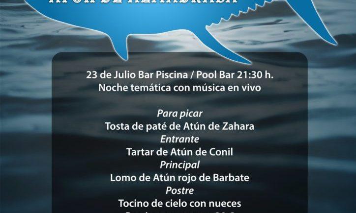 Noche temática del atún de almadraba en el Aparthotel Las Dunas