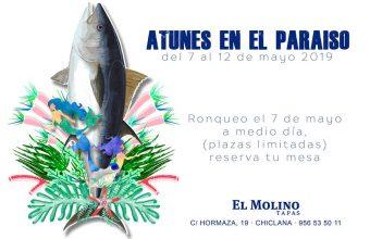 Del 7 al 12 de mayo. Chiclana. Atunes en el Paraíso en El Molino Tapas