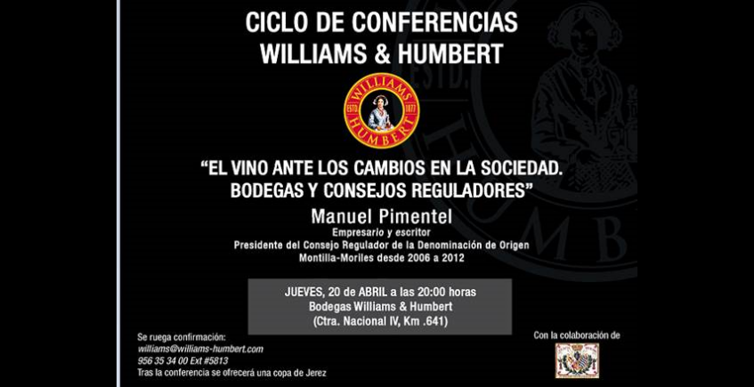20 de abril. Jerez. Conferencia de Manuel Pimentel
