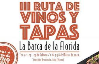 Ruta de vinos y tapas en La Barca de La Florida