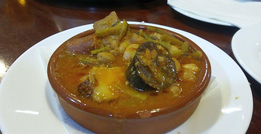 La berza de tagarninas de la Cafetería Bohemia de Cádiz
