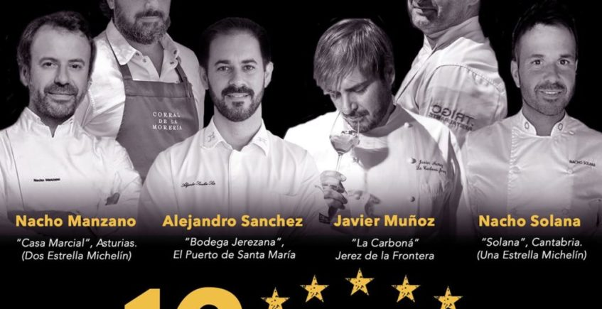 Menu con 7 Estrellas Michelin en Bodega Jerezana
