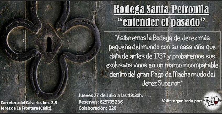 27 de julio. Jerez. Visita a la bodega Santa Petronila
