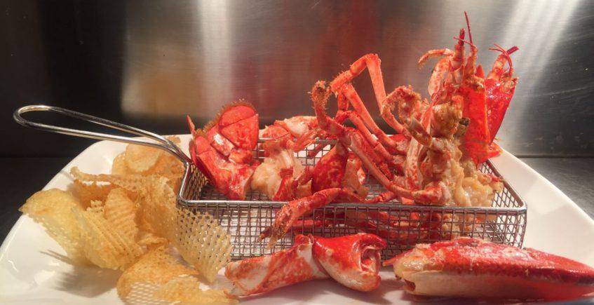 El bogavante frito del restaurante El Roqueo
