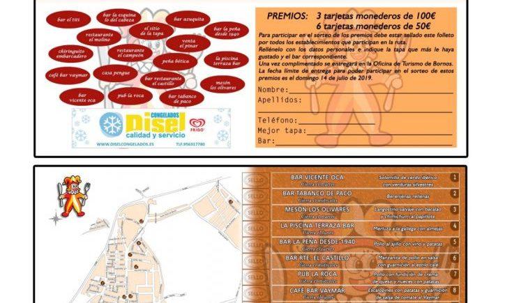 Ruta de la tapa del 1 al 7 de julio en Bornos, con 18 establecimientos participantes