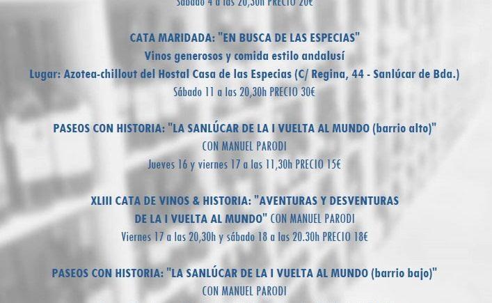Catas del mes de septiembre en Dealbariza de Sanlúcar