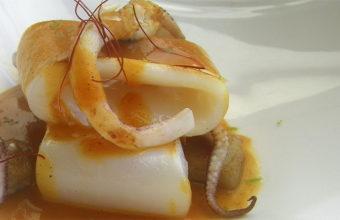 El calamar con calabaza y foie de Albalá