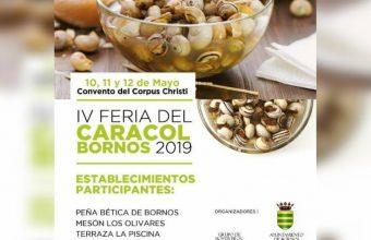 10 al 12 de mayo. Bornos. Feria del caracol