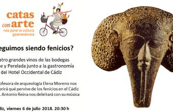 """6 de julio. Cádiz. Catas con arte: """"¿Seguimos siendo fenicios?"""""""