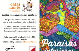 Paraísos interiores, nueva Cata con Arte el 11 de octubre en Cádiz