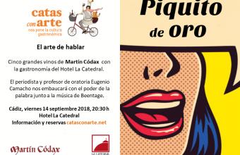 14 de septiembre. Jerez. Cata con arte 'Piquito de oro'