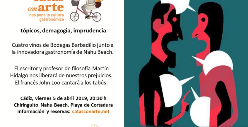 5 de abril. Cádiz. Cata con arte sobre los prejuicios