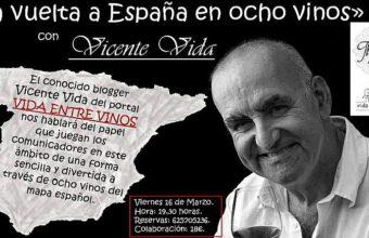 16 de marzo. San Fernando. La Vuelta al mundo en ocho vinos con Vicente Vida
