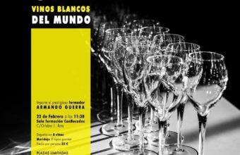 Cata de Vinos blancos del mundo en ConBocados Catering