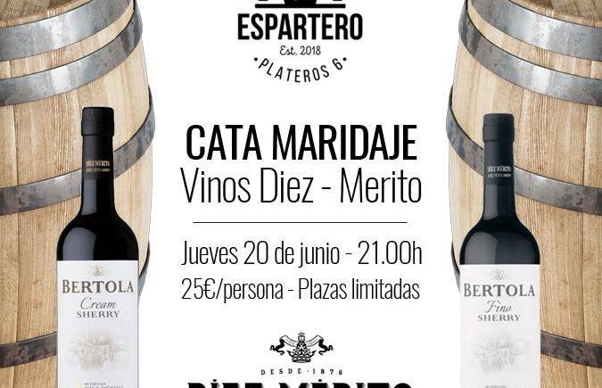 Cata maridaje de vinos de Diez Mérito en El Espartero