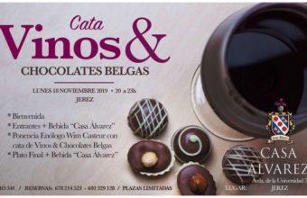 Cata de vinos y chocolates belgas en Casa Álvarez de Jerez el 18 de noviembre