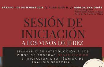 1 de diciembre. Jerez. Sesión de iniciación a los vinos de Jerez