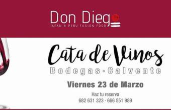23 de marzo. San Roque. Cata maridada de vinos de las Bodegas Calvente en Restaurante Don Diego