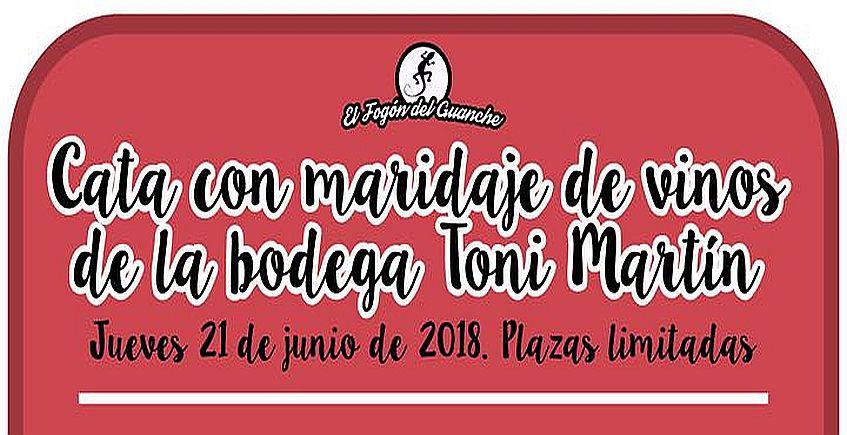 21 de junio. Puerto Real. Cata con maridaje de vinos de Toni Martín en el Fogón del Guanche