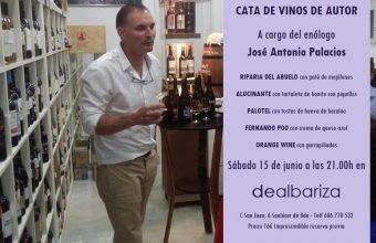 Cata con los vinos de José Antonio Palacios el 15 de junio en Dealbariza