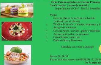 28 de julio. Cádiz. Cata y clase magistral de cocina peruana en La Garnacha